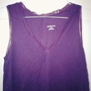 Purple Sleeveless Blouse